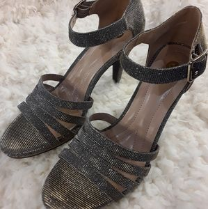 Traci Strappy Heels Bronze 8.5 by Dress Barn NWT